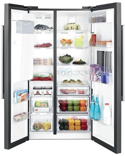 side-by-side koelkast BEKO VRIJSTAAND GN162430P side-by-side koelkast vrijstaand
