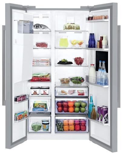 side-by-side koelkast BEKO VRIJSTAAND GN162430X side-by-side koelkast vrijstaand