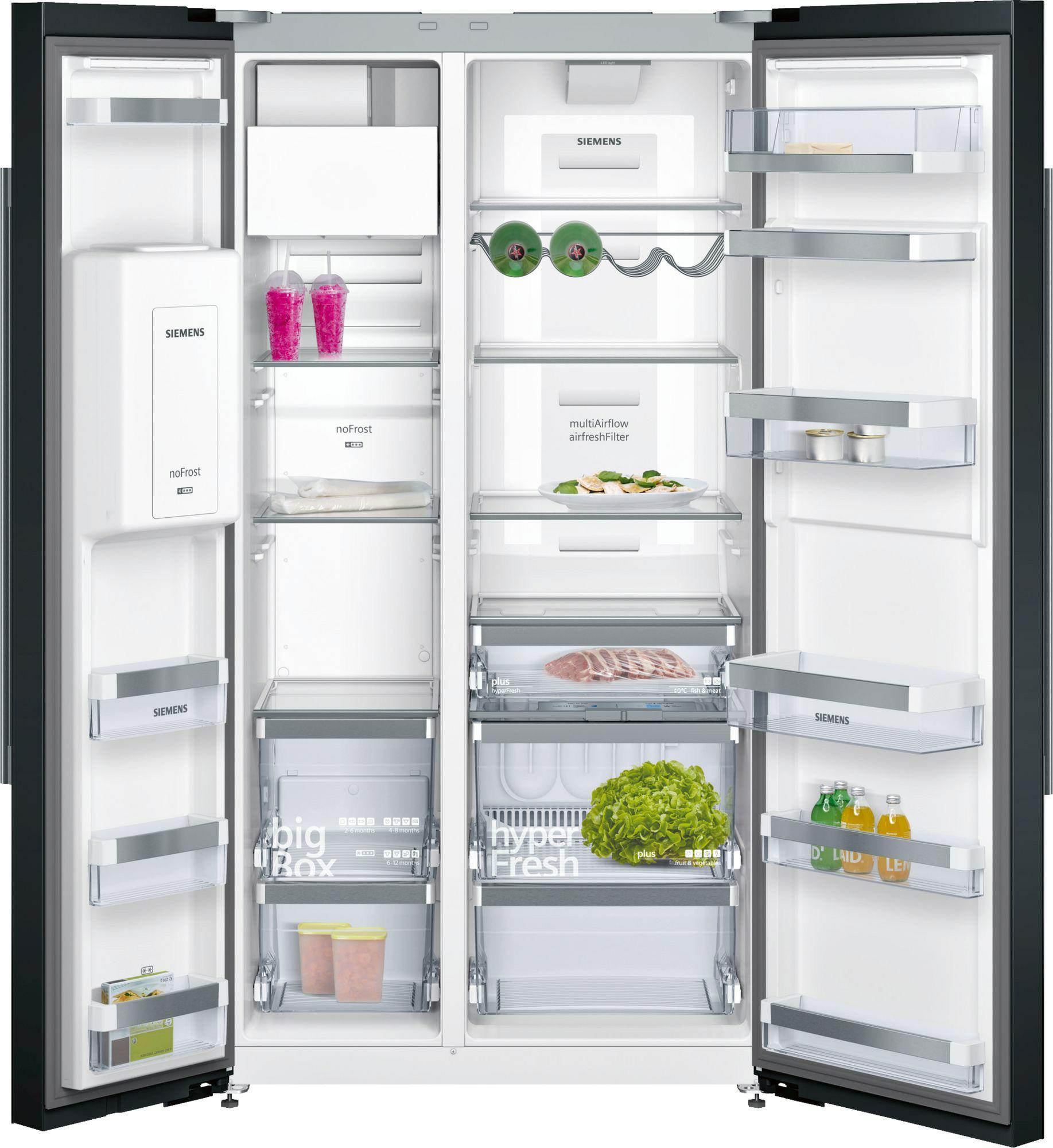 side-by-side koelkast Siemens KA92DSB30 side-by-side koelkast vrijstaand KA 92DSB30 KA 92 DSB 30