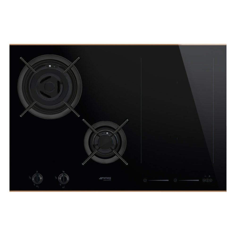 Smeg PM6721WLDR kookplaat gas + inductie