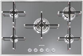 Smeg PVS750BE kookplaat gas PVS 750 PVS750 PVS 750 BE
