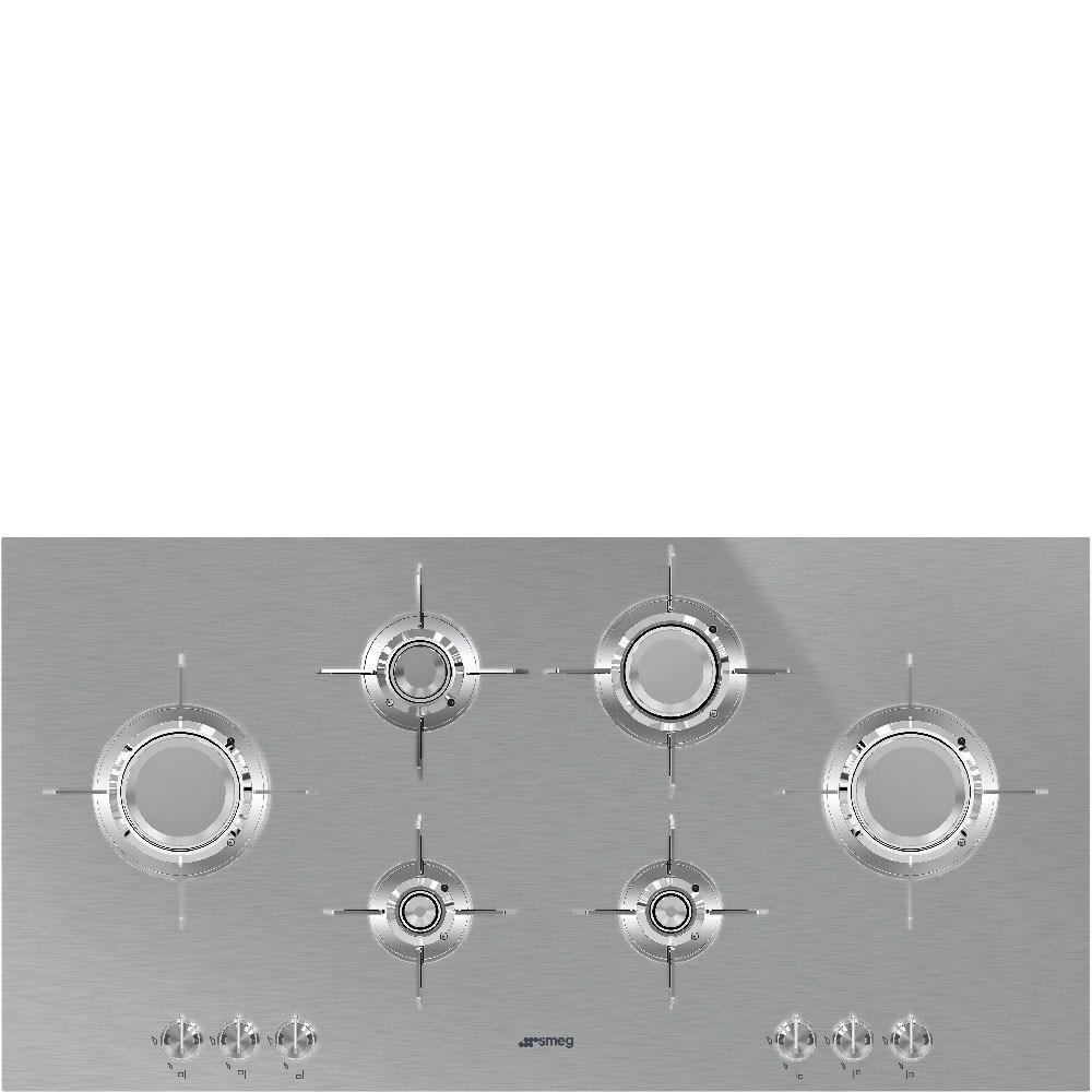 kookplaat gas Smeg PXL6106 kookplaat gas
