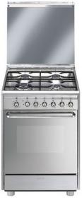 fornuis gas (kookplaat + oven) Smeg Vrijstaand SCB60GX9 fornuis gas (kookplaat + oven) SCB 60GX9 SCB 60 GX 9