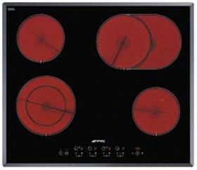 kookplaat vitrokeramisch Smeg SE364EMTB kookplaat vitrokeramisch