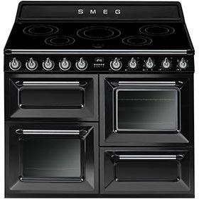 fornuis inductie (kookplaat) + elektrisch (oven) Smeg Vrijstaand TR4110IBL fornuis inductie (kookplaat) + elektrisch (oven) TR 4110 TR4110 TR 4110 IB