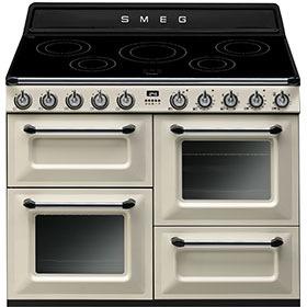 fornuis inductie (kookplaat) + elektrisch (oven) Smeg Vrijstaand TR4110IP fornuis inductie (kookplaat) + elektrisch (oven) TR 4110 TR4110 TR 4110 IP