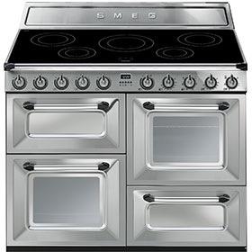 fornuis inductie (kookplaat) + elektrisch (oven) Smeg Vrijstaand TR4110IX fornuis inductie (kookplaat) + elektrisch (oven) TR 4110 TR4110 TR 4110 IX