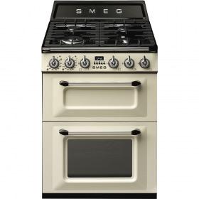 fornuis Smeg Vrijstaand TR62P fornuis inductie (kookplaat) + gas (oven)
