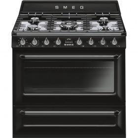 fornuis Smeg Vrijstaand TR90BL9 fornuis gas (kookplaat) + elektrisch (oven)