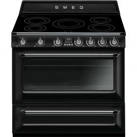 fornuis inductie (kookplaat) + gas (oven) Smeg Vrijstaand TR90IBL9 fornuis inductie (kookplaat) + gas (oven)