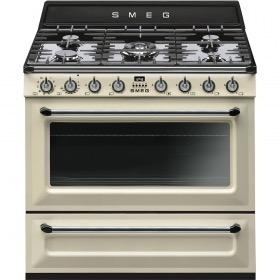 fornuis Smeg Vrijstaand TR90P9 fornuis gas (kookplaat) + elektrisch (oven)