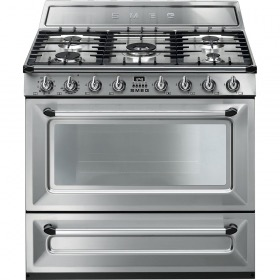 fornuis Smeg Vrijstaand TR90X9 fornuis gas (kookplaat) + elektrisch (oven)