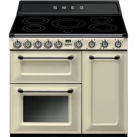 fornuis inductie (kookplaat) + elektrisch (oven) Smeg Vrijstaand TR93IP fornuis inductie (kookplaat) + elektrisch (oven) TR 93 TR93 TR 93 IP