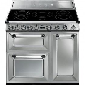 fornuis inductie (kookplaat) + elektrisch (oven) Smeg Vrijstaand TR93IX fornuis inductie (kookplaat) + elektrisch (oven) TR 93 TR93 TR 93 IX